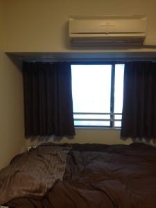 伝統的風水 梁 寝室 遮光カーテン